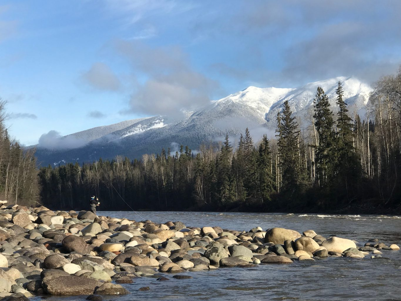 Spey casting on the Bulkley River